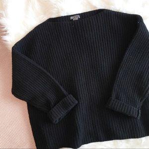 Vince Chunky Knit Black Sweater